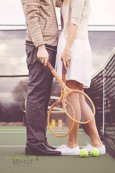 i love brooke's tennis engagement photoshoot.