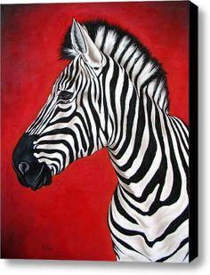 Colorful zebra acryllak op doek afmeting 80x120 mixed media zebra canvas print by ilse kleyn thecheapjerseys Gallery