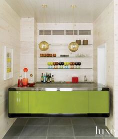 Chartreuse in a small space