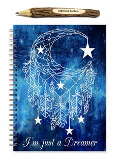 Spiral Notebook, Dreamer Quote, Quote Notebook, Inspirational Gift, Gifts For A Friend, Illustrated Journal, Travel Gift, Quote Journal - pinned by pin4etsy.com