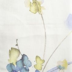 Not only does 'Lubina' represent colour and energy but has the lovely subtle smudgy outlines from the popular 'watercolour' look. Visit Net Curtains Direct for all colourways