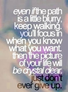Stay focused baby girl!!