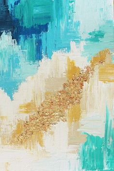 DIY Abstract Art | Learn to make this easy art! Such a great abstract art tutorial!