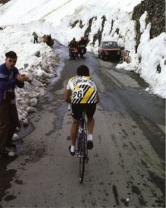 Bernard Hinault, Stelvio 1980, Giro d'Italia - my first Bianchi was named for this mountain pass in the Dolomites.