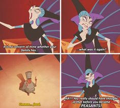"""When Yzma made this hard-hitting argument: 