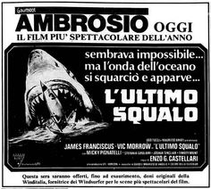 """L'ultimo squalo"", conosciuto all'estero come ""The Last Jaws"" o ""The Last Shark"" (1981) di Enzo G. Castellari. Italian release: April 10, 1981 #MoviePosters #HorrorMovies #SharkMovies #ItalianHorror"