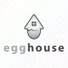 Egg Logo Design made from a house that is cracked For Sale On StockLogos | Egg House logo