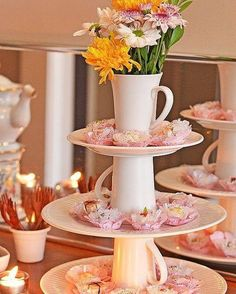 70 new ideas for party table centerpieces diy dollar stores bridal shower Bridal Shower, Baby Shower, Deco Floral, Decoration Table, Table Centerpieces, Wedding Centerpieces, Centrepieces, High Tea, Dessert Table