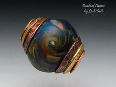 Artisan Glass Beads of Passion Big Hole Lampwork by BeadsofPassion