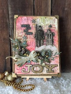 Richele Christensen: Tim Holtz Inspiration Series - Joy Burlap Panel