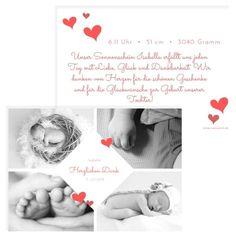 Die wunderschöne Geburtskarte oder auch Dankeskarte genannt ist im Postkartenformat gestaltet. Mit süßen Herzen auf der Vorderseite und Rückseite ein absoluter Hingucker. #classycards #geburtskarten #babykarten #dankeskarten #baby #geburt Designs, Movie Posters, Baby Delivery, Thanks Card, Cordial, Nice Asses, Film Poster, Film Posters
