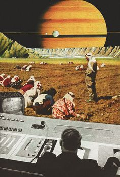 Journeys To Geographic Life And Time.. Part-3. Surreal Mixed Media Collage Art By Ayham Jabr.