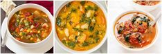 Keep warm with these healthy soup recipes. From chicken soups to vegetable soups and lentil soups, there are plenty of nourishing soups to choose from here. Healthy Slow Cooker, Slow Cooker Soup, Best Healthy Soup Recipe, Healthy Soups, Healthy Food, Chicken Zoodle Soup, Chicken Soups, Southwest Chicken Soup, Turmeric Soup