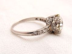 Stunning Vintage 2.01 ct Diamond Platinum by RiordanStudio on Etsy  ....sorry boyfriend...didnt mean to fall in love with an $18,000 ring.
