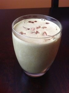 Spinach based thin mint smoothie, THM style!