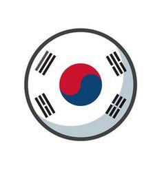 Isolated south korea flag icon block design vector South Korea Flag, Flag Icon, Block Design, Tech Logos, Vector Free