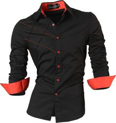2017 casual shirts dress male mens clothing long sleeve social slim fit brand boutique cotton western button white black t 2028 xxl 200 Cotton Shirts For Men, Casual Shirts For Men, Men Casual, Cotton Tee, Smart Casual, Chemise Fashion, Moda Men, Top Mode, Slim Fit Dresses
