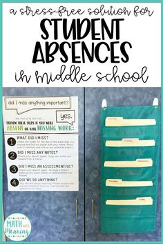 One of the most stressful and time-consuming things I had to deal with my first few years of teaching was how to handle student absences!