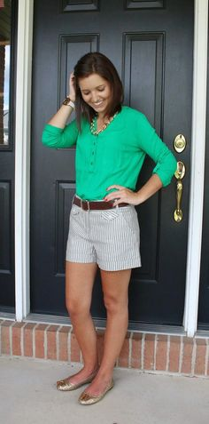 150 pretty casual shorts summer outfit combinations (7)