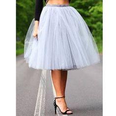 Very Full Fluffy Gray Tulle Skirt