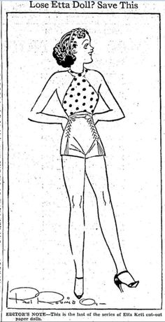 Etta Kett paper doll - Mason City Globe Gazette - Apr 22 1937