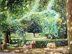 alfonso palma, Villa di marzo on ArtStack Dolores Park, Villa, Opera, Painting, Impressionism, March, Palms, Artists