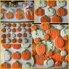 Decorated pumpkin cookies via Cupcake Adventures