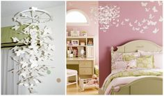 DIY Kids Butterfly Chandelier. Would be cute in a little girl's room
