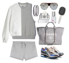 """Adidas adigirl sleeveless sweatshirt"" by thestyleartisan ❤ liked on Polyvore featuring Essie, adidas, Clinique, T By Alexander Wang, Jimmy Choo, Lanvin, Chanel, Earth Therapeutics, Charlotte Russe and grey"