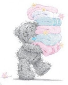 ♥ Tatty Teddy ♥ Me to You Fresh Towels ♥ Teddy Bear Images, Teddy Pictures, Bear Pictures, Cute Pictures, Tatty Teddy, Das Abc, Blue Nose Friends, Bear Illustration, Cute Clipart