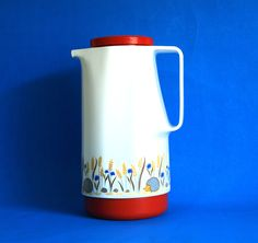 Vintage Rotpunkt Hedgehog Coffee Carafe Thermos Vacuum Flask - 70s Red Cute Animal Dr Zimmerman - Made in West Germany by FunkyKoala on Etsy