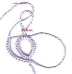 Onion Rings- Ball thread join - Tatting