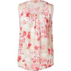 GIAMBATTISTA VALLI Silk Flower Print Blouse in Pink