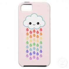 Cute Cloud with Raindrops iPhone 5 Case