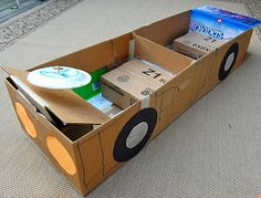 Awesome, fun kid projects made with cardboard.  I always have that around the house!