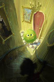 Karin:  ein kleines grünes Gute-Besserung-Monster für Karin......