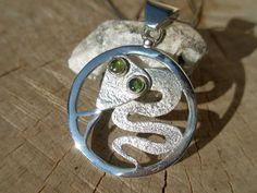 GREEN-EYED Tsavorite sterling silver by SILVERSTONEbyRenata