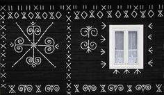 House in Čičmany (Slovakia) Bratislava, Heart Of Europe, Beautiful Places In The World, Craft Patterns, Pattern Art, Body Art, Diy And Crafts, Culture, Traditional