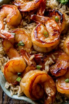 & Healthy Dinner: 20 Minute Honey Garlic Shrimp Easy, healthy, and on the table in about 20 minutes! Honey garlic shrimp recipe on Easy, healthy, and on the table in about 20 minutes! Honey garlic shrimp recipe on Garlic Recipes, Fish Recipes, Seafood Recipes, Dinner Recipes, Cooking Recipes, Healthy Recipes, Healthy Meals, Quick Recipes, Easy Healthy Shrimp Recipe