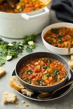 Italian Vegetable Lentil Soup | Cooking Classy