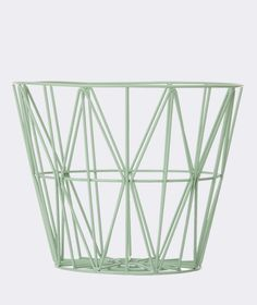 wire basket_mint