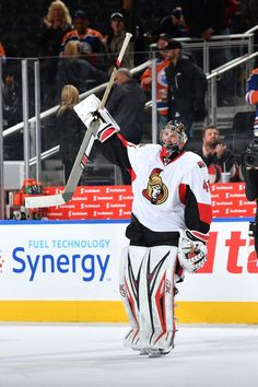 """""""That one is for you Nicholle.""""   Craig Anderson posted a 37-save shutout on Sunday after returning to the Ottawa Senators following his wife's cancer diagnosis."""