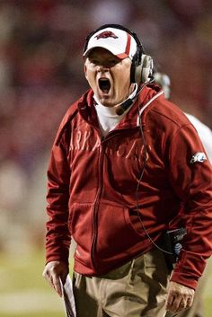 I get very excited when Bobby Petrino gets mad!