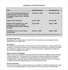 National Letter Of Intent,National Letter Of Intent Rules Template  Letter Of Intent To Purchase Goods