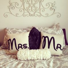 Mr. and Mrs. Pillows!