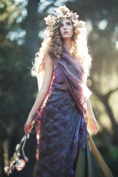 "stormtrooperfashion:  Julia in ""Elfin Forest"" byEmily SotoforCoco Magazine"