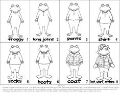 Froggy Gets Dressed Coloring Page Froggy Gets Dressed, Get Dressed, Coloring Pages Winter, Coloring For Kids, Back To School Hacks, School Stuff, School Ideas, Clothes Worksheet, Valentines Day Coloring Page