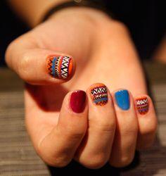 Tribal Nails by WAH Nails.