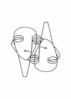 lesagittarie - Famous Last Words Abstract Sketches, Abstract Line Art, Art Sketches, Art Drawings, Tattoo Abstract, Pencil Drawings, Line Artwork, Line Art Tattoos, Art And Illustration