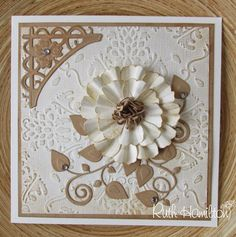Tonic Studios Pick of the Week - embossing folders and dies - card from RUTH 3d Cards, Cool Cards, Xmas Cards, Holiday Cards, Flower Cards, Paper Flowers, Tonic Cards, Tattered Lace Cards, Studio Cards